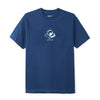 June - 'GLOBE' Mens Tee - Navy, White