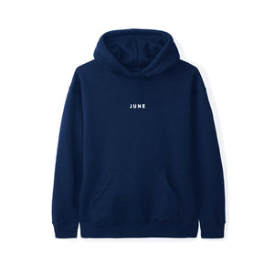 June - PUFF! Youth Hoodie - Navy, White