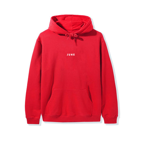 June - PUFF! Youth Hoodie - Red, White