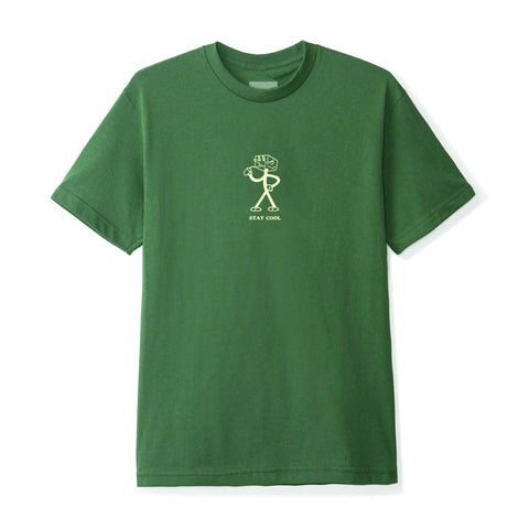 June - Stay Cool Mens Tee - Green, Cream