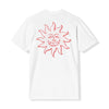 "June - ""Sun Dude"" Mens Tee - White, Red"