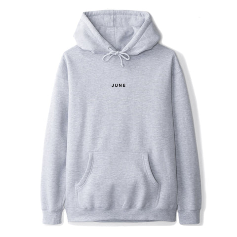 June - Classic Text Mens Hoodie - Grey