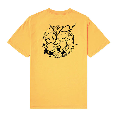 June - YO! Mens Tee - Yellow, Black