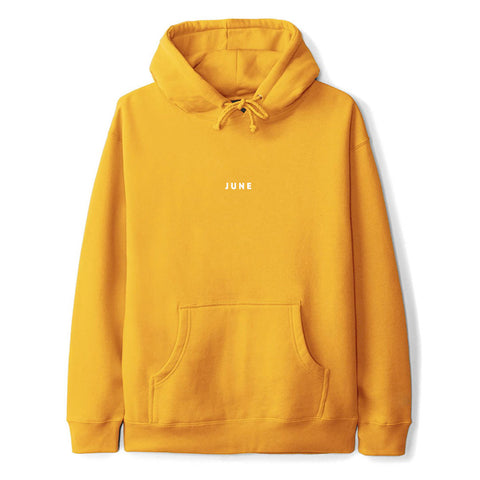 June - PUFF! Mens Hood - Gold, White