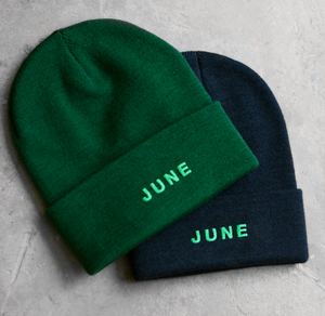 June - PUFF Beanie - Red / White