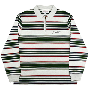 yardsale-dolores-quarter-zip-mens-l-s-polo-ash-green-red