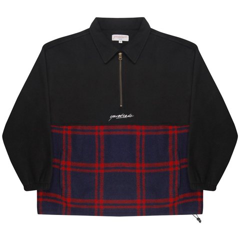 yardsale-tartan-split-fleece-mens-jumper-black