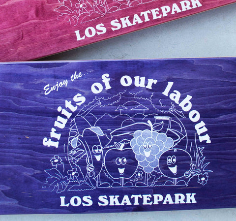 June - LOS SKATEPARK - Skateboard Deck - 8""
