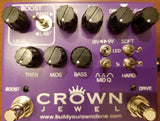 BYOC Crown Jewel Distortion Pedal New ASSEMBLED WITH ALL MODULES and Dry Blend