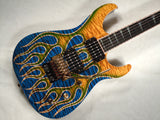 David Thomas McNaught DJ+ Custom Shop Guitar with Flames