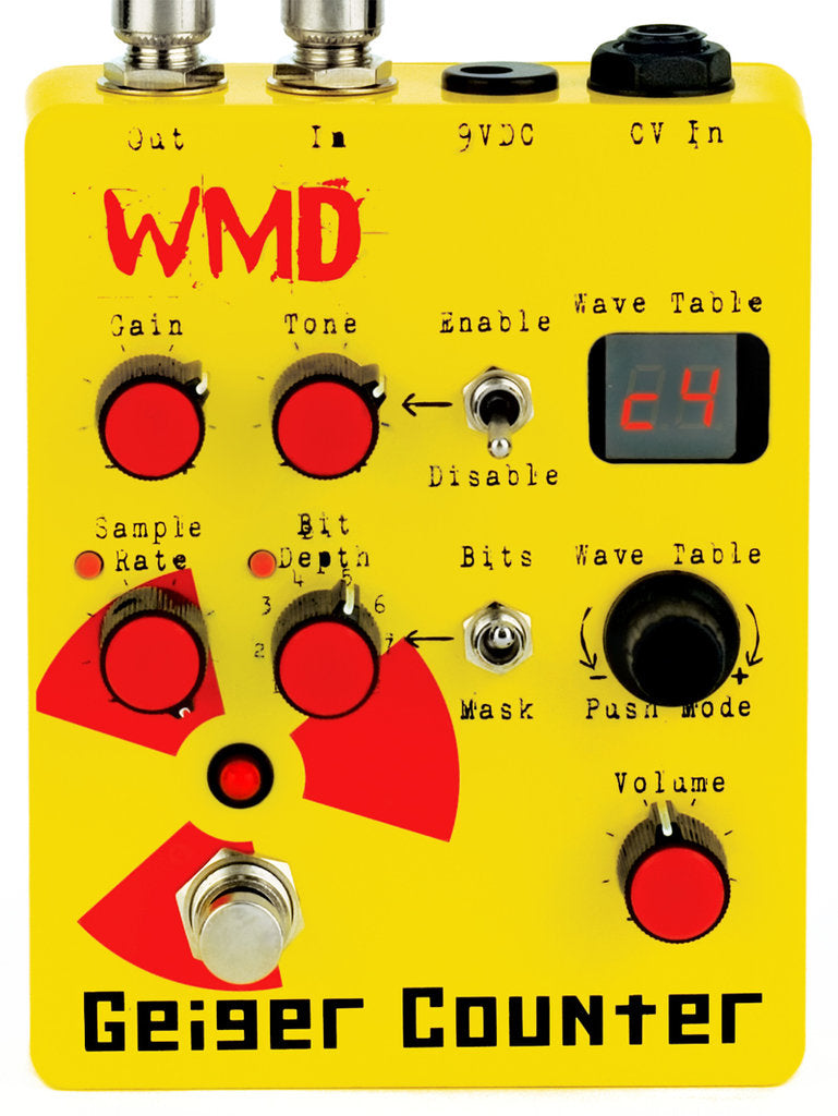 WMD Device Geiger Counter Digital Destruction Distortion Pedal