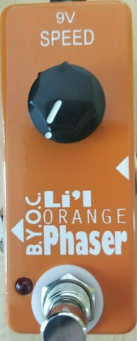 BYOC Lil Orange Phaser Pedal New Orange Powder Coat Silkscreened ASSEMBLED