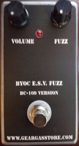 BYOC E.S.V. Fuzz Pedal BC109C Version New ASSEMBLED