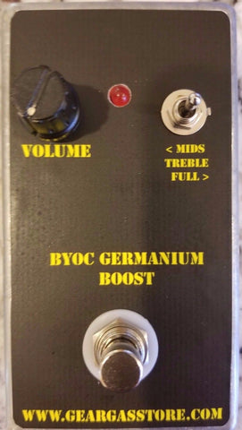BYOC Germanium Boost Pedal New ASSEMBLED