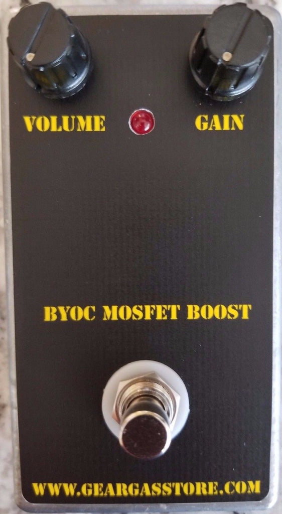 BYOC MOSFET Boost Pedal New ASSEMBLED