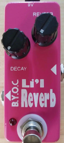 BYOC Lil Reverb Pedal New ASSEMBLED