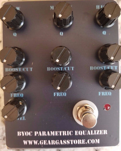 BYOC Parametric Equalizer Pedal New ASSEMBLED