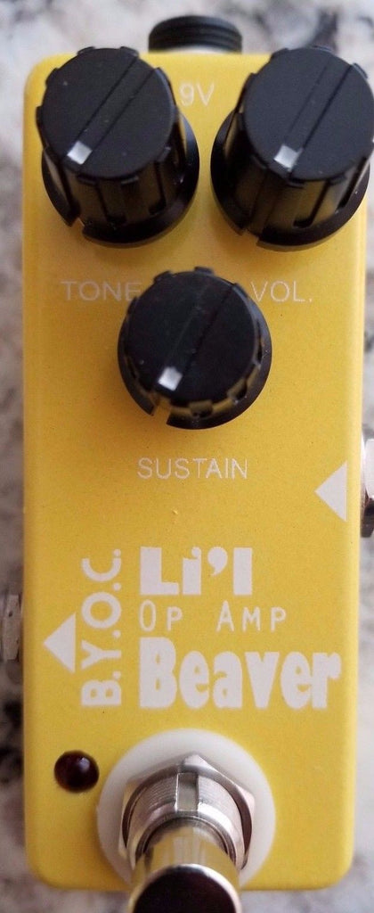 BYOC Lil Opamp Beaver Distortion Fuzz Pedal New ASSEMBLED