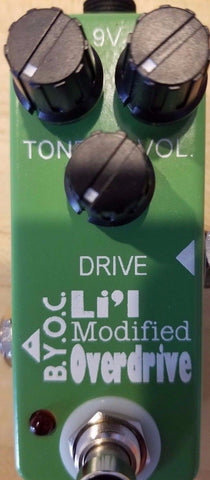 BYOC Lil Modified Overdrive Pedal New ASSEMBLED
