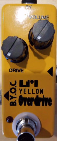 BYOC Lil Yellow Overdrive Pedal New ASSEMBLED
