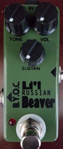 BYOC Lil Beaver Russian Version Fuzz Pedal Silkscreen Powdercoat New ASSEMBLED