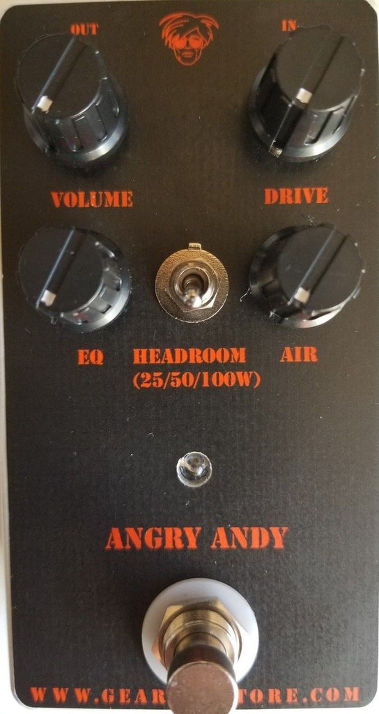 Geargas Custom Shop Angry Andy Overdrive Pedal