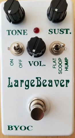 BYOC Large Beaver Russian Pedal New ASSEMBLED White Powdercoat Silkscreened