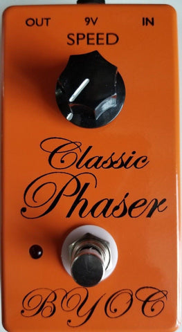 BYOC Classic Phaser Pedal New ASSEMBLED