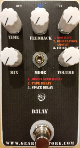 Geargas Custom Shop D3LAY 3-Channel Digital Delay Pedal