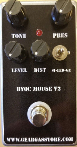 BYOC Mouse V2 Distortion Pedal New ASSEMBLED
