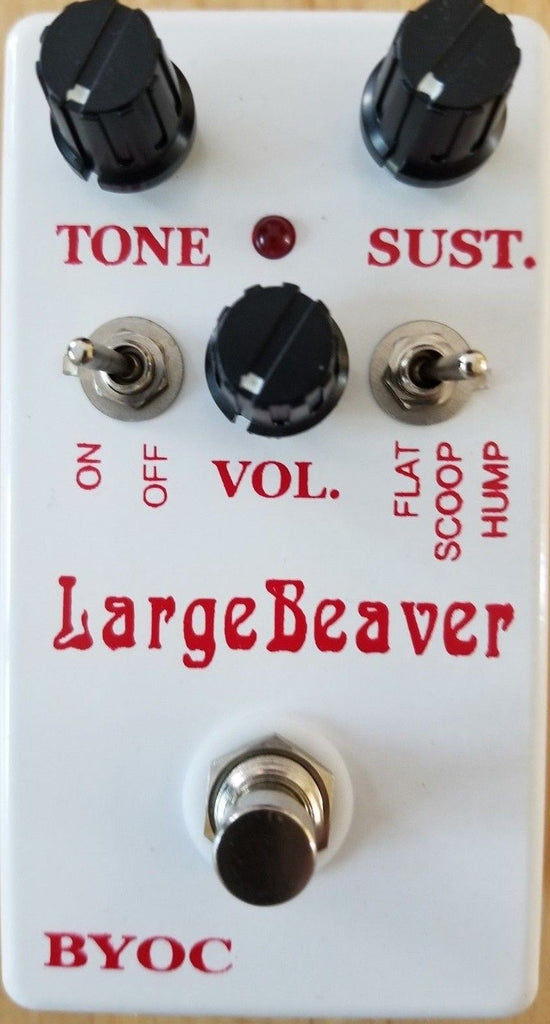 BYOC Large Beaver NYC Version Fuzz Pedal New ASSEMBLED White Powder Coat