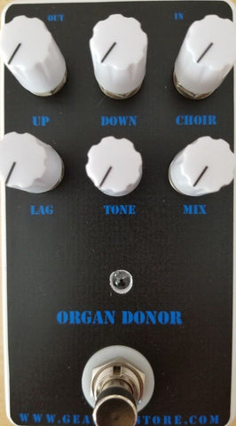 Geargas Custom Shop Organ Donor Polyphonic Organ Emulator Pedal