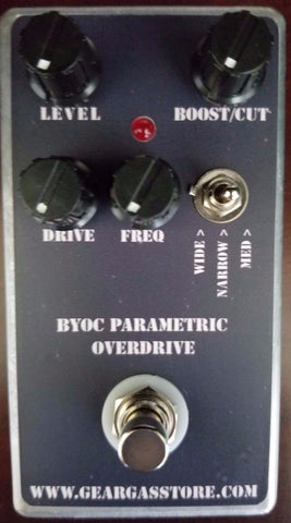 BYOC Parametric Overdrive Pedal New ASSEMBLED
