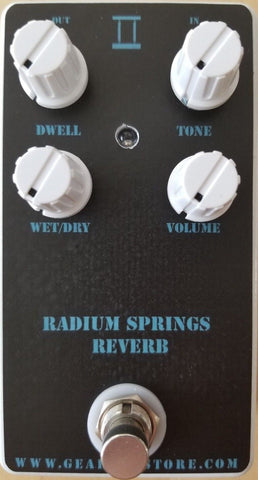 Geargas Custom Shop Radium Springs Reverb Pedal