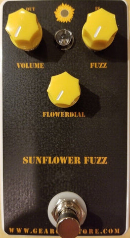 Geargas Custom Shop Sunflower Fuzz Pedal