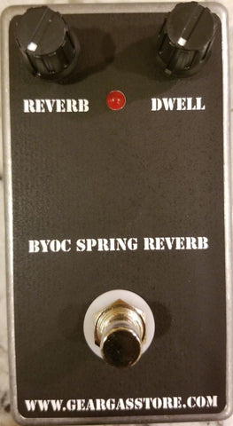 BYOC Spring Reverb Pedal New ASSEMBLED