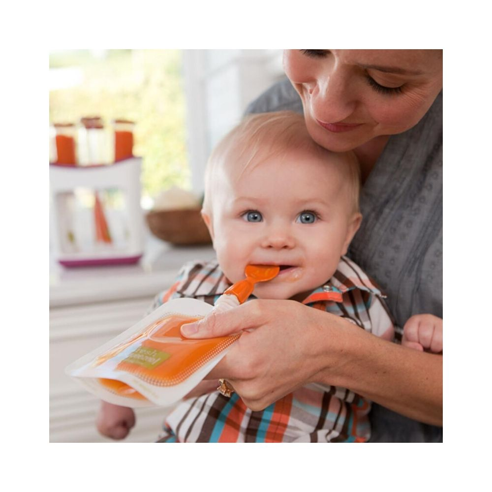 """My child is getting the best nutrition with homemade puree whether we're home or on the road!""   - Molly T., Mommies Universe Customer"