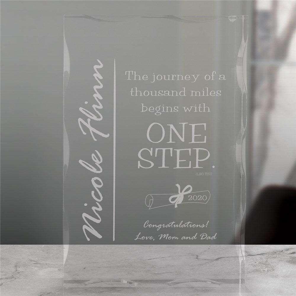 Graduation Keepsake Glass Block
