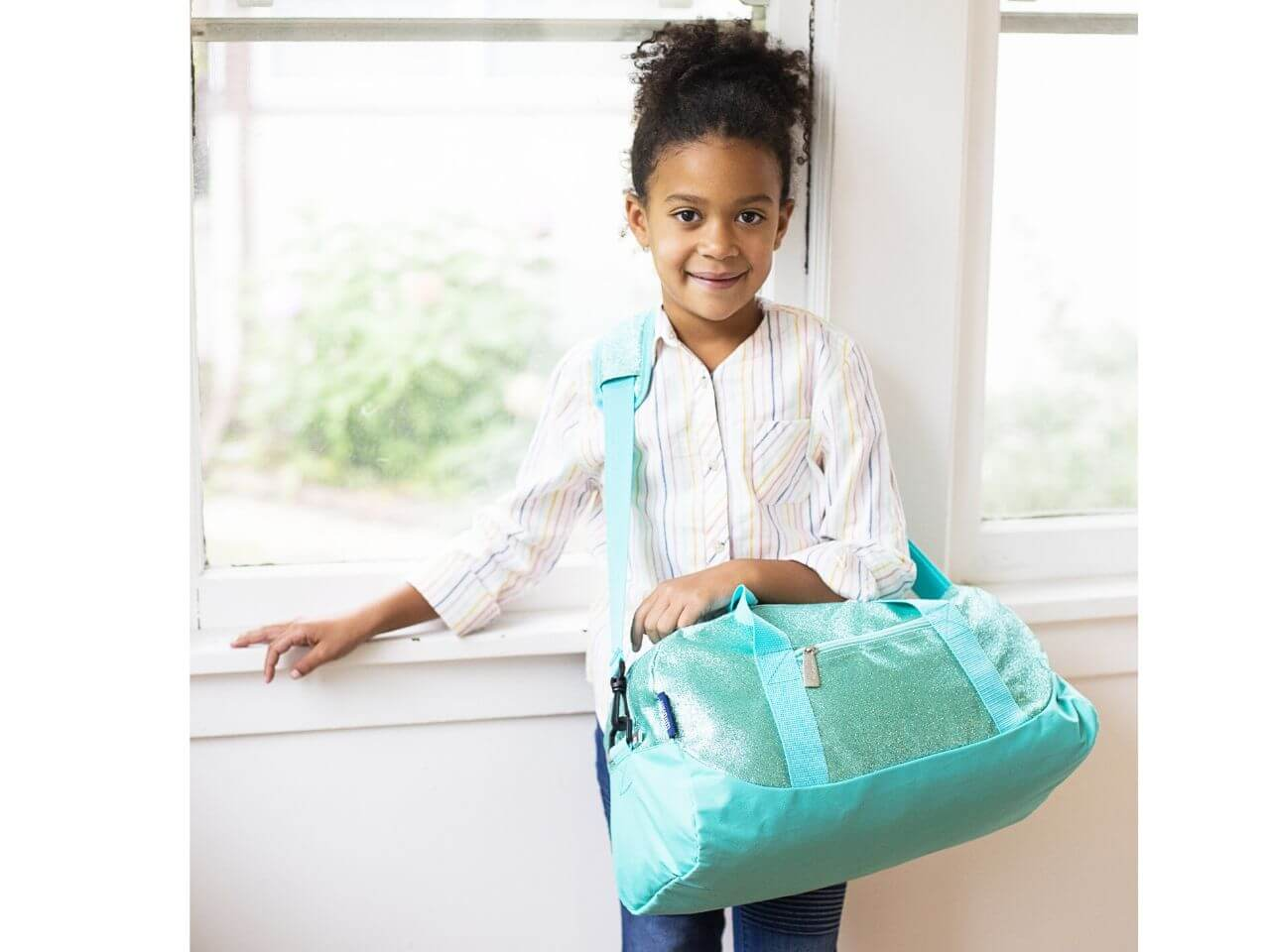 Blue Glitter - Kids Duffel Bag