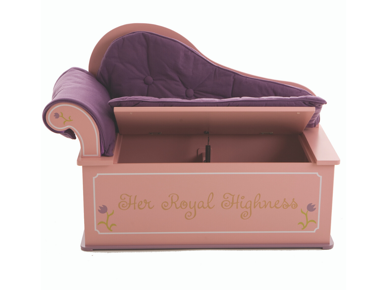 Princess Fainting Couch Bench Seat with Storage