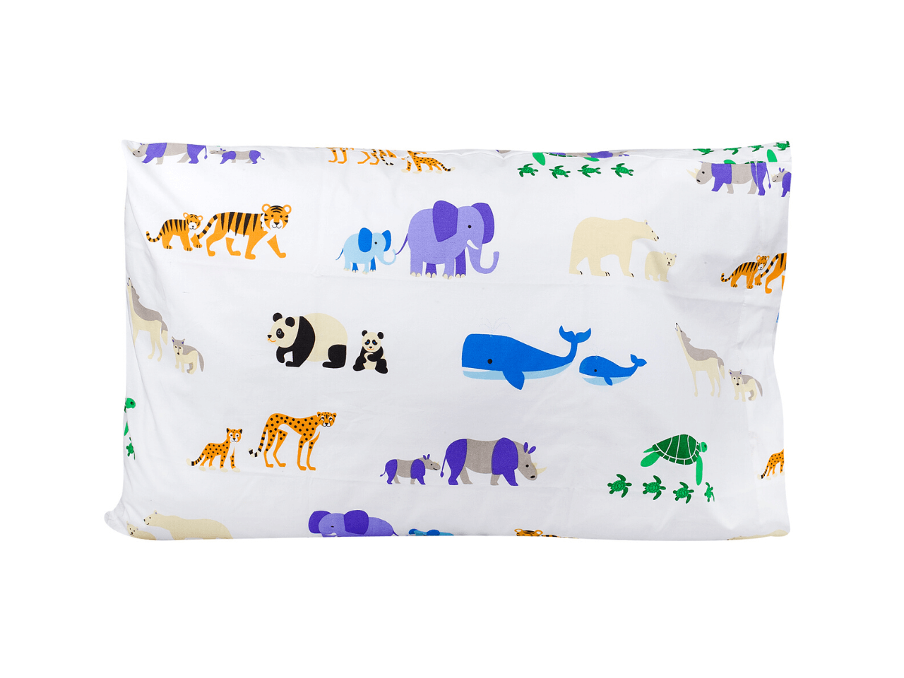 100% Cotton Pillow Cases - Endangered Animals