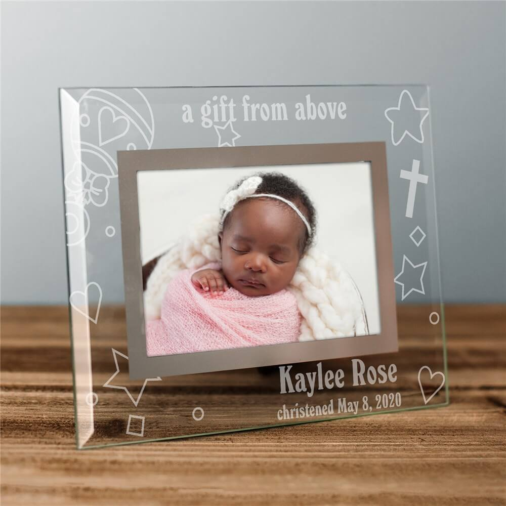 Bliss EDU A Gift From Above Personalized Baby Picture Frame
