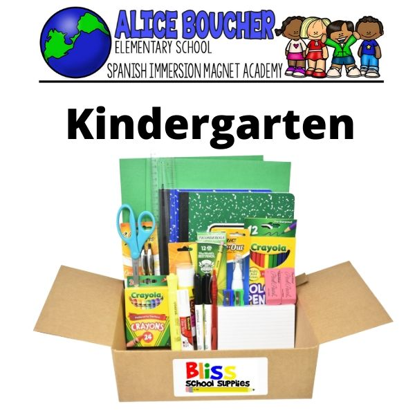 Alice Boucher - Kindergarten School Supply Kit