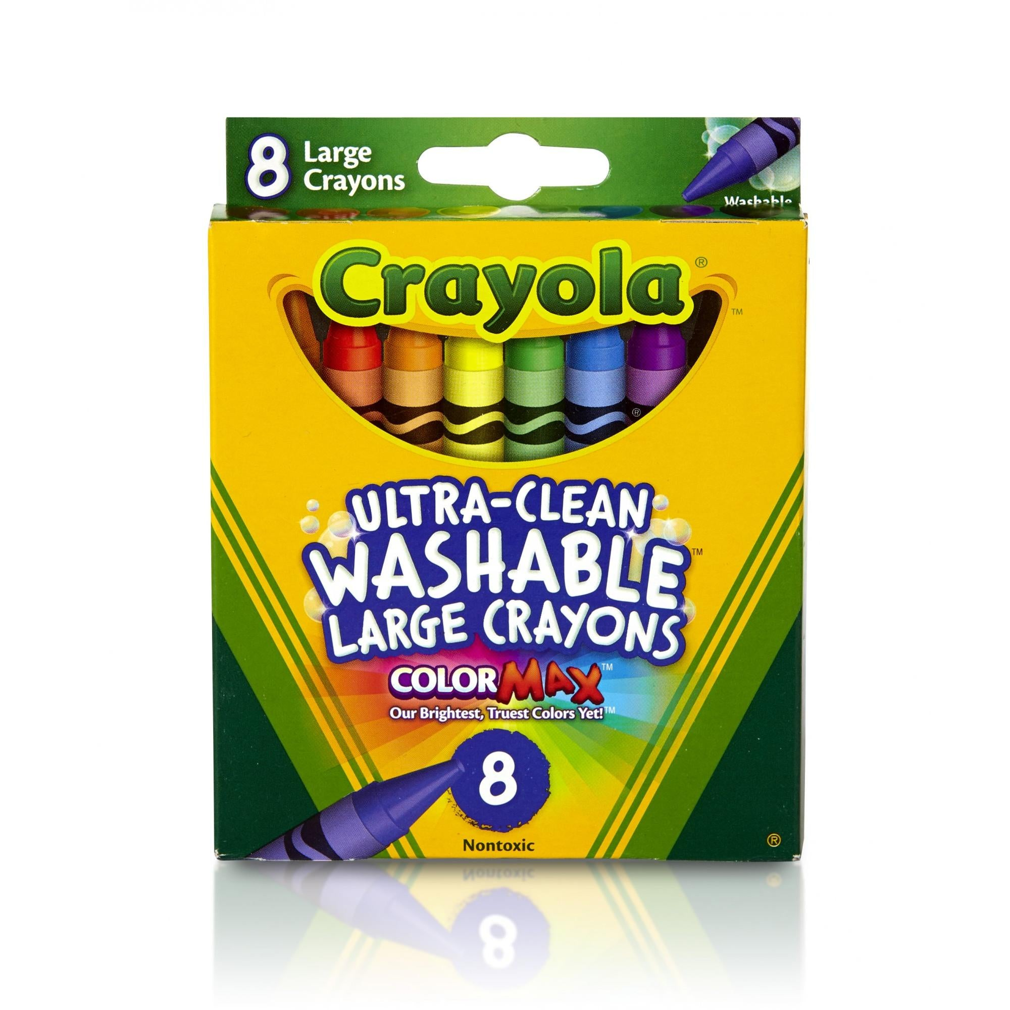Crayola Ultra-Clean Washable Large 8ct Crayons, Assorted Colors