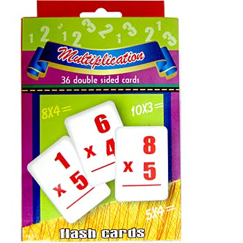 Multiplication Flash Cards - 36 Cards