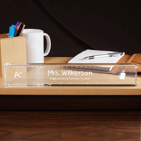 Personalized Ruler Teacher Name Plate