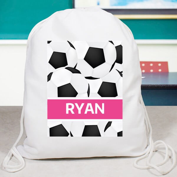 Bliss EDU Soccer Drawstring Bag Pink