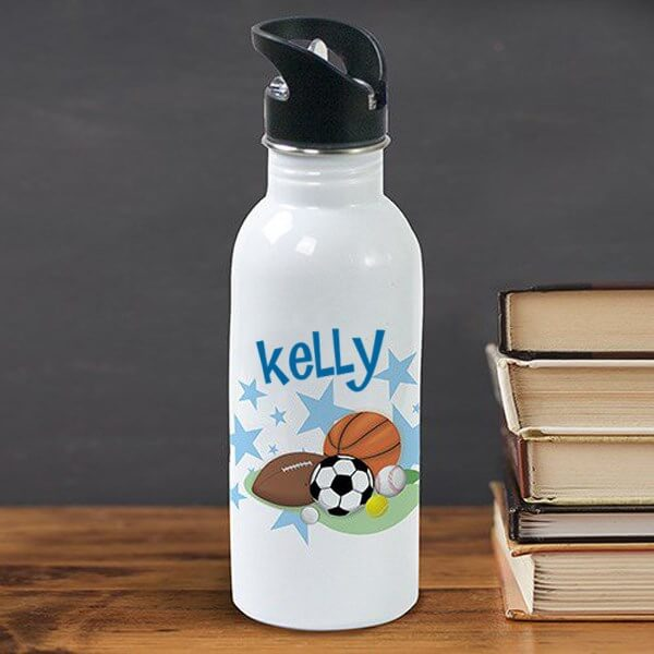 Bliss EDU Personalized Sports Fan Water Bottle