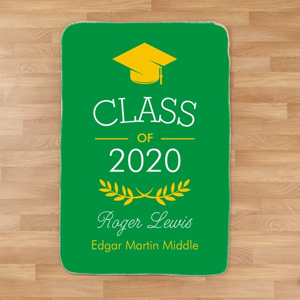 Custom Graduation Sherpa Throw