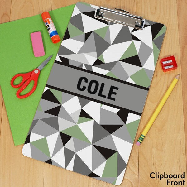 Bliss EDU Personalized Jagged Squares Clipboard